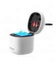 Incarcator portabil triplu cu cititor de carduri integrat pentru baterii GoPro Hero 9