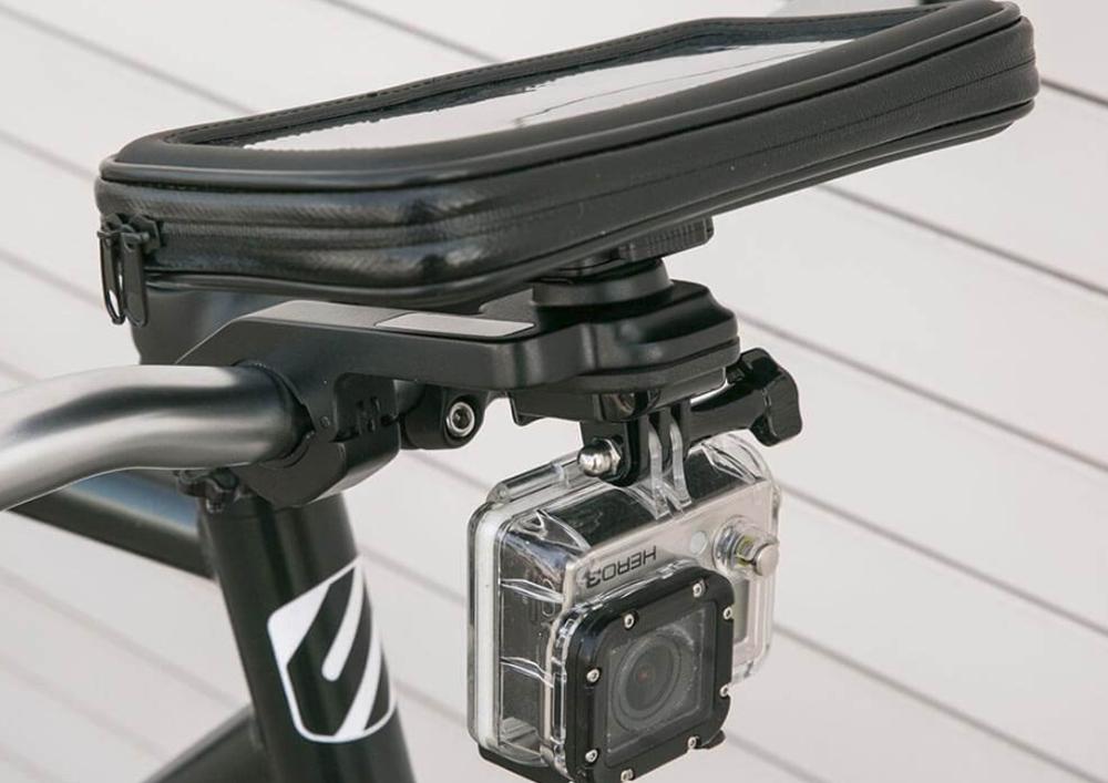 Suport bicicleta HandleIt Pro™ 2 in 1, pentru telefoane si camere de actiune