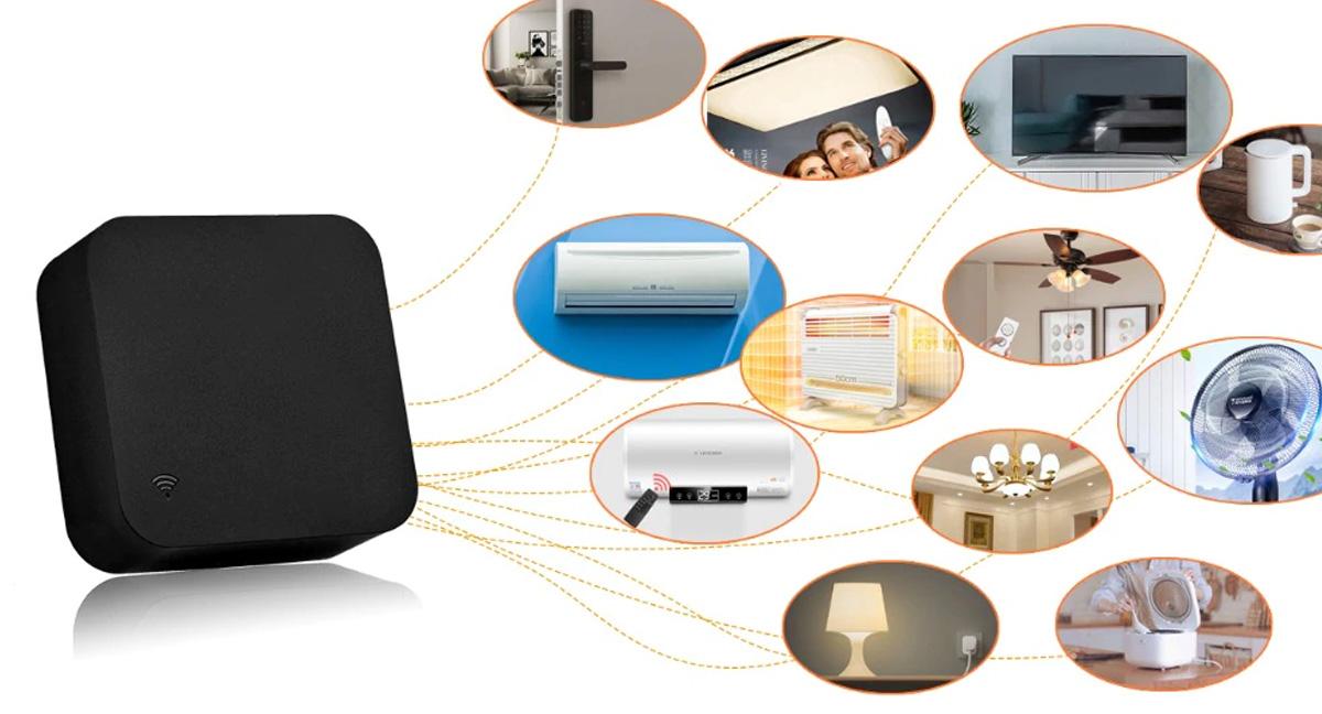 Telecomanda universala SMART wireless pentru dispozitive IR, compatibil Tuya / Smart Life