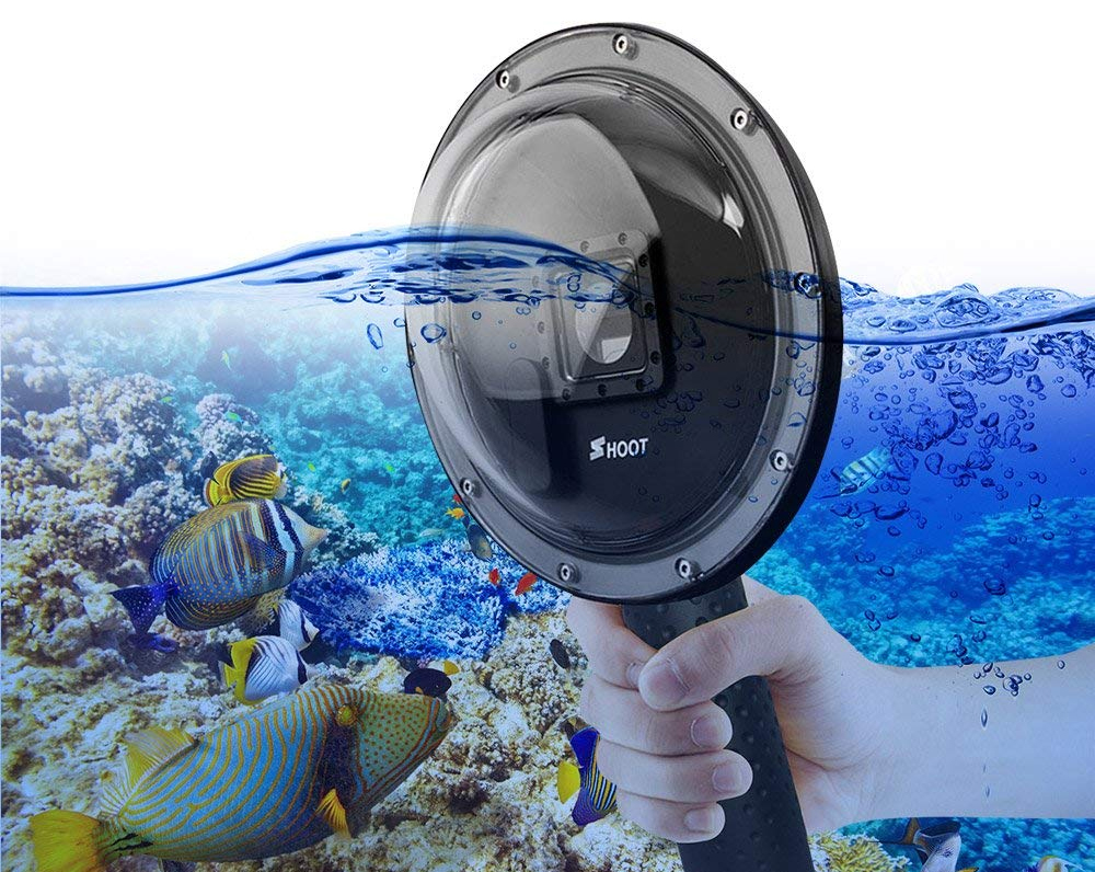 Dome pentru filmari subacvatice compatibil GoPro Hero 3, 3+ si 4
